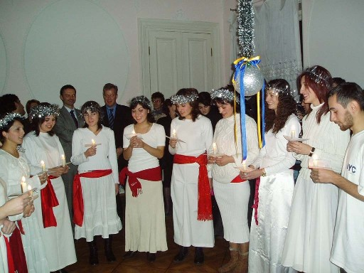 Lucia celebration at the Swedish Consulate in Tbilisi